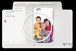 uploader une photo et imprimer sur une coque téléphone