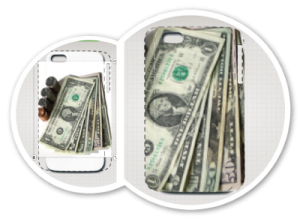 coque iphone dollars