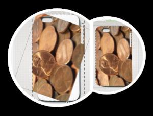 coque iphone avec texture de pièces