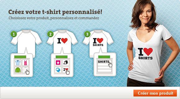 Outil de personnalisation Spreadshirt