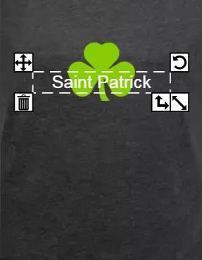 Ajouter son texte St Patrick