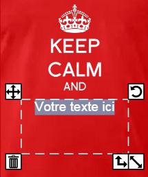 Texte personnalisé keep calm