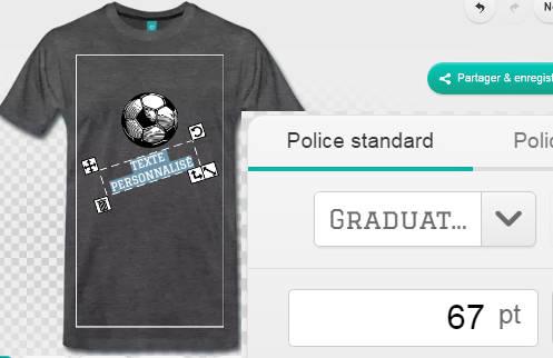 Personnaliser un t-shirt foot avec du texte, allez les Bleus, coupe du monde etc