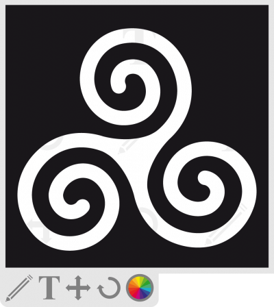 t-shirt Bretagne, symbole breton triskel à 3 branches