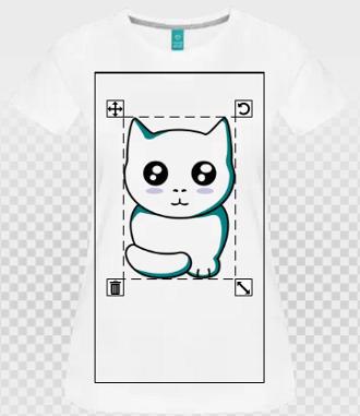 Le design de chat par défaut, taille et couleurs.