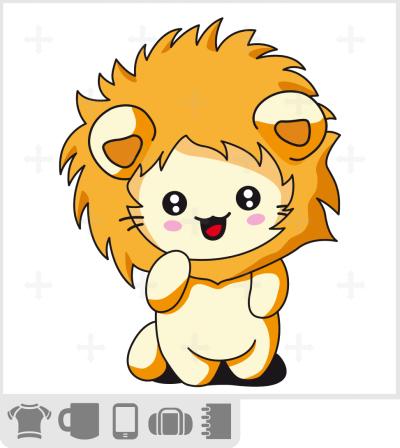 T-shirt chaton rigolo déguisé en lion avec une capuche en forme de fausse crinière