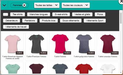LA gamme de t-shirts Spreadshirt, catégorie femmes.