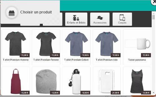 Catégories de t-shirts et accessoires SPreadshirt.