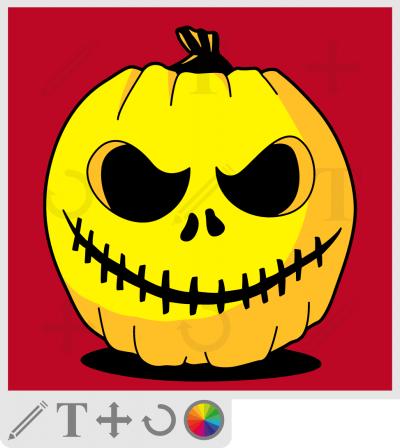 Créez votre t-shirt Halloween ou votre tote bag citrouille pour le 31 octobre.