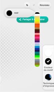 Outil de réglage des couleurs du t-shirt