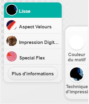 Types d'impression en ligne Spreadshirt