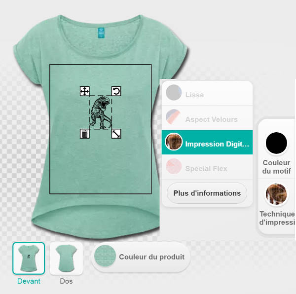 Techniques d'impression Spreadshirt