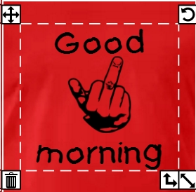 Doigt d'honneur et good morning