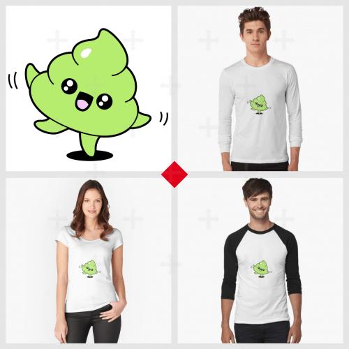 T-shirt emoji caca, mug crotte rigolote, tote bag kawaii, trouvez votre article humour et commandez-le en ligne.