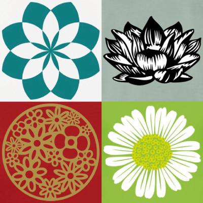 motifs fleurs à personnaliser et imprimer en ligne