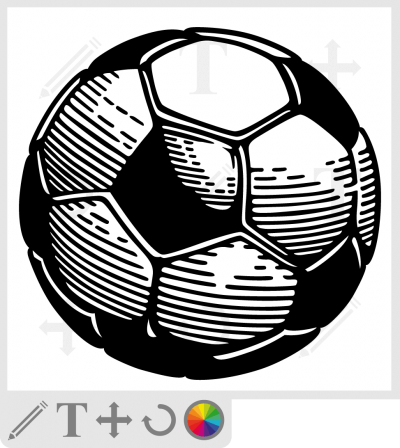 t-shirt ballon de foot simple à personnaliser