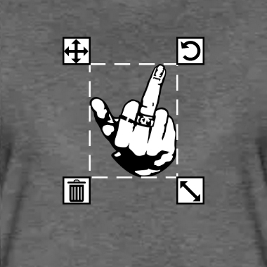 Fuck you, doigt de femme et bague