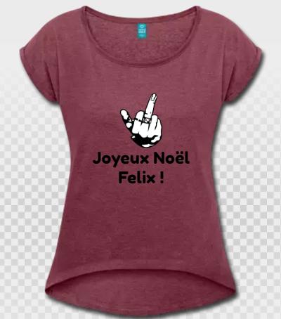 Fuck you, doigt d'honneur et Joyeux Noël Félix