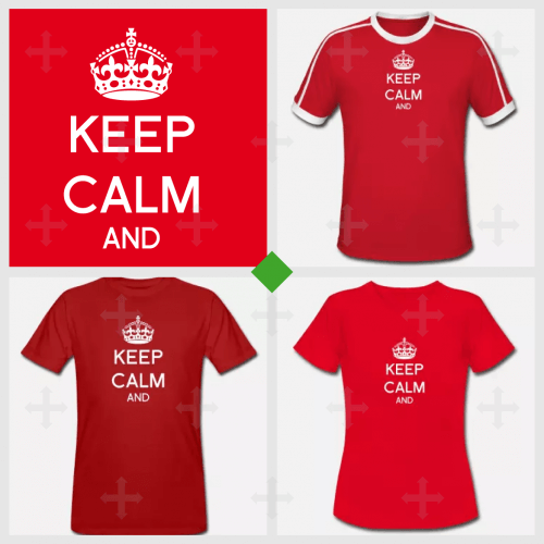 Tee shirt Keep calm sur la plateforme SPreadshirt.