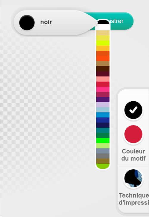Choix de couleurs d'impression