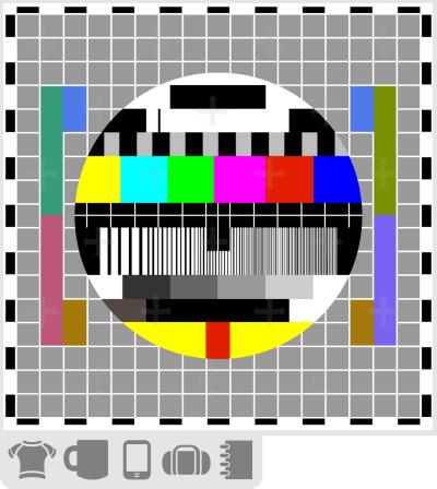 T-shirt mire tv, signal test pour écran de télévision de l'histoire de la télé cathodique.