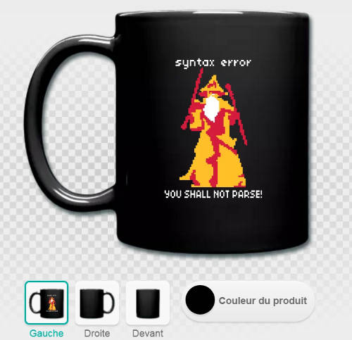 Mug développeur you shall not parse you shall not pass