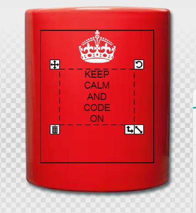 Keep calm and code on, mug développeur personnalisé