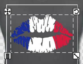 Agrandir et déplacer le drapeau