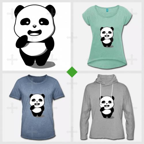 Panda kawaii à personnaliser et imprimer en ligne.