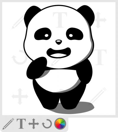 Panda kawaii debout