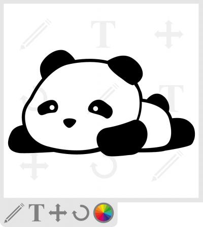 Panda kawaii à personnaliser et imprimer sur t-shirt, sac, accessoire etc.