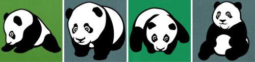 Petits pandas kawaii à personnaliser.
