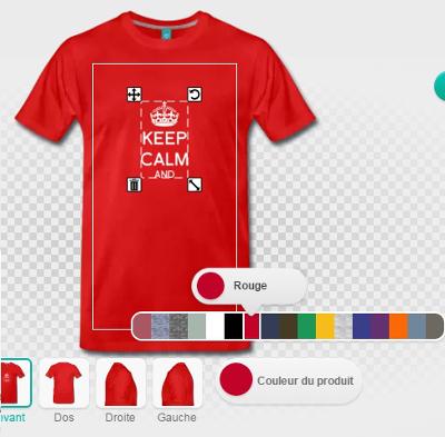Modifier la couleur du t-shirt