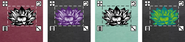 Varionations de couleurs sur un design lotus