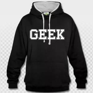 t-shirt geek grandes lettres blanc sur noir