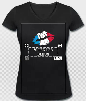 T-shirt Allez les Bleus équipe de France