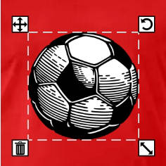 T-shirt football à créer soi-même pour coupe du monde et championnats.