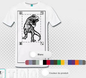 Régler les couleurs du t-shirt