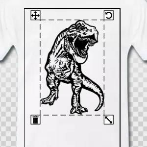 t-shirt dinosaure personnalisé