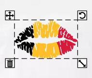 Drapeau belge personnalisé à partir d'un drapeau français à 3 bandes verticales.