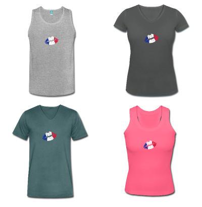t-shirt drapeau français équipe de France