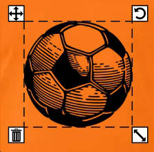 Ballon de foot transparent et noir à personnaliser et imprimer en ligne.
