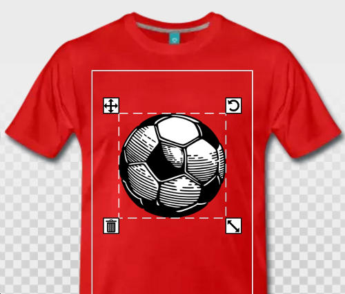 T-shirt ballon de foot à imprimer en ligne.