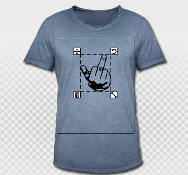 t-shirt vintage et signe fuck de la main