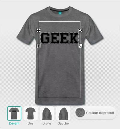 Personnaliser son t-shirt geek, étape 1 la couleur du design