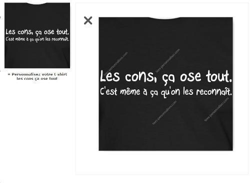 Citation les cons ça ose tout, design à imprimer sur t-shirt