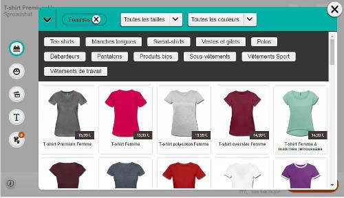 Gamme t-shirts personnalisables Sereadshirt femme