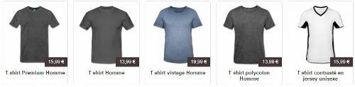 Personnalisez votre t-shirt homme