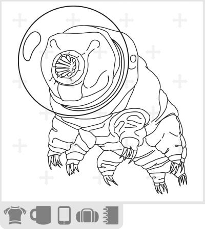 T-shirt tardigrade astronaute. Tardigrade de l'espace rigolo avec un casque d'astronaute.