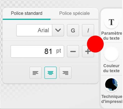 Editeur de texte personnalisé spreadshirt, imprimez un tote bag avec votre texte perso.